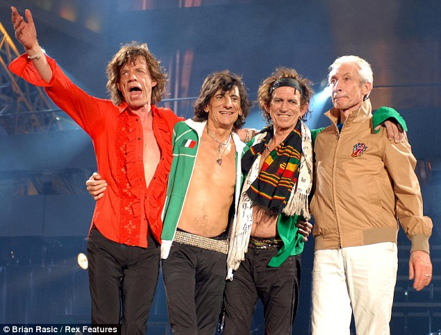 After the gig, the Stones take a bow