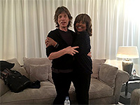 Mick with Tina Turner backstage - The Rolling Stones No Filter Tour - Zürich 2017