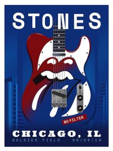 Tonight's poster - The Rolling Stones, Chicagi II - June 25, 2019
