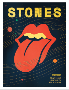The Rolling Stones - Houston 2019 - poster