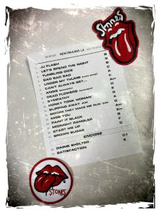 Rolling Stones New Orleans - Ronnie's setlist