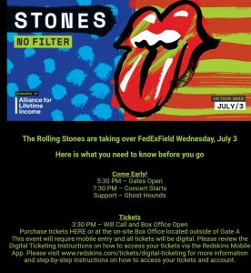 Stones Washington 2019