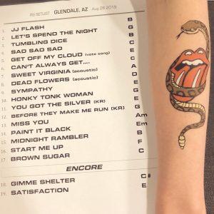 Glendale - the setlist