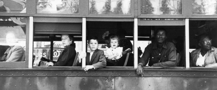 Trolley, New Orleans, 1955, from The Americans … an image from the exhibition Robert Frank: Unseen at C/O Berlin Foundation, Berlin, from 13 September until 30 November. Photograph: Robert Frank/Fotostiftung Schweiz, Winterthur