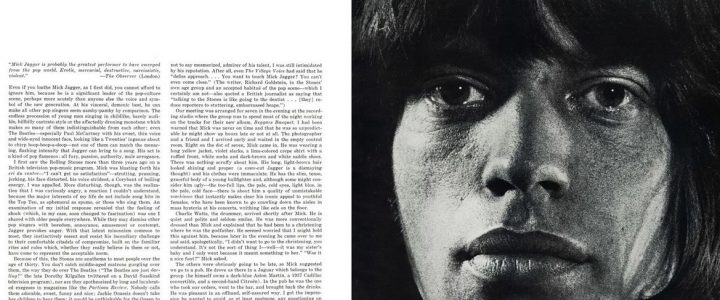 Esquire - Mick Jagger, I Love You June 1 1969 Helen Lawrenson