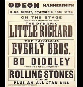 November 3, 1963 - Hammersmith Odeon: Little Richard + The Rolling Stones