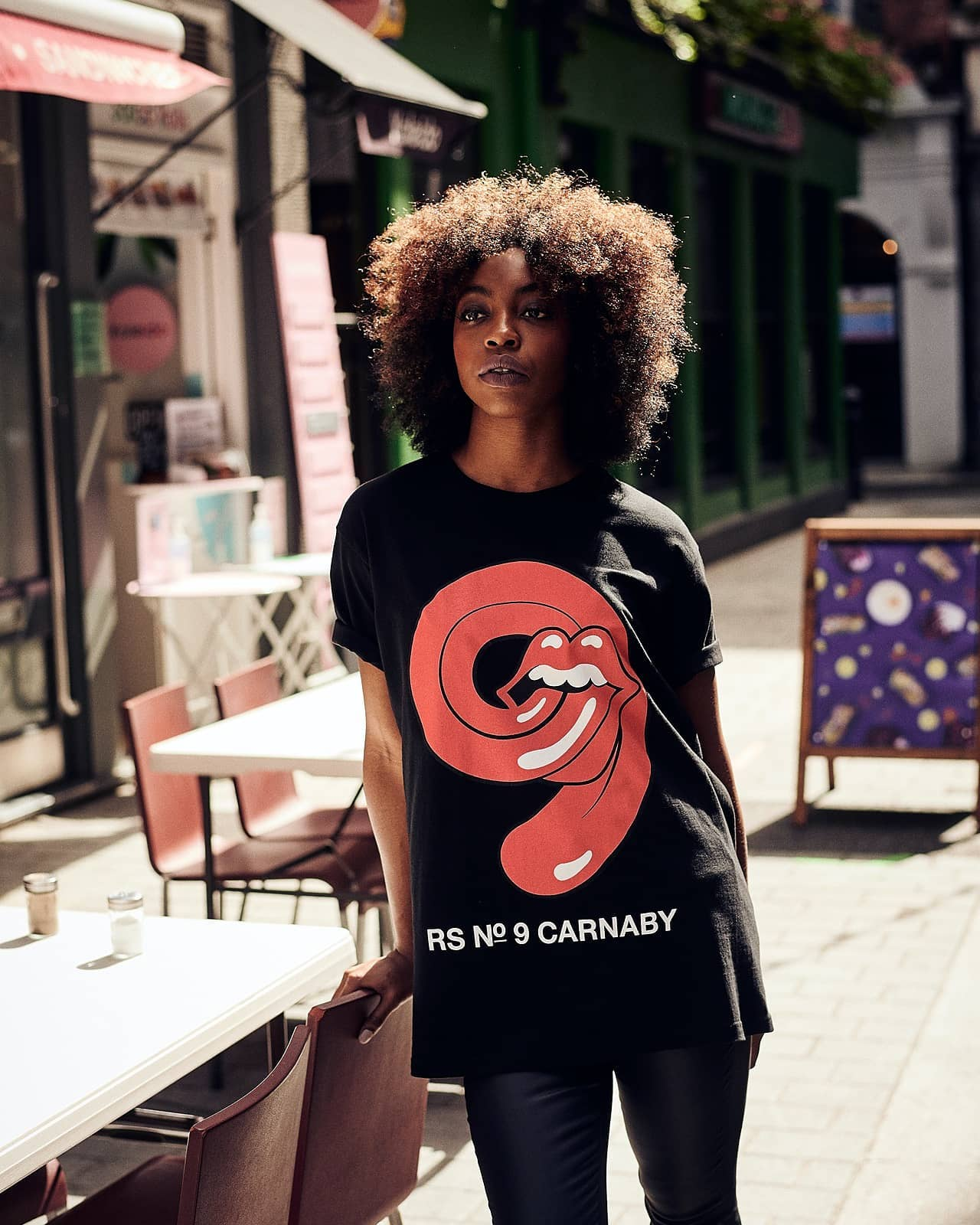 RS No. 9 Carnaby Street features customized T-shirts, brand collaborations and merchandise