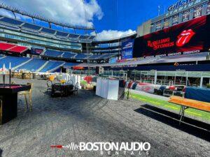 Private Kraft gig, Boston, Gillette Stadium, Sept. 20 2021