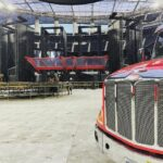 LA: they build the stage