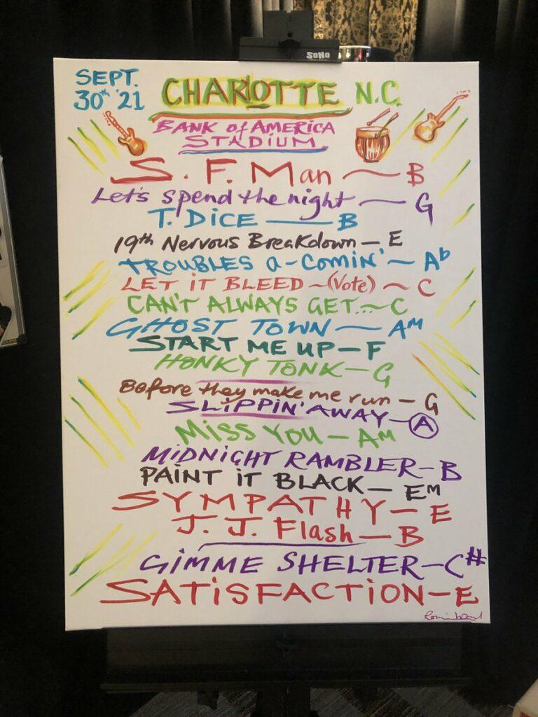 Charlotte setlist